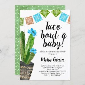 Boys Taco Bout A Baby baby Shower Invitation