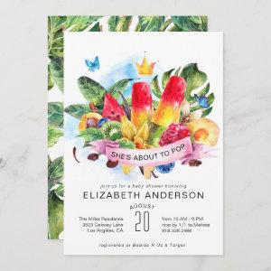 Bright Summer Popsicle Baby Shower Invitation