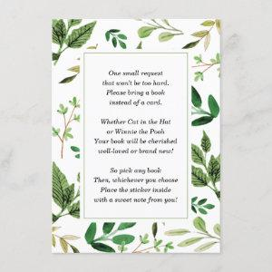 Bring a Book Insert Card for Baby Shower