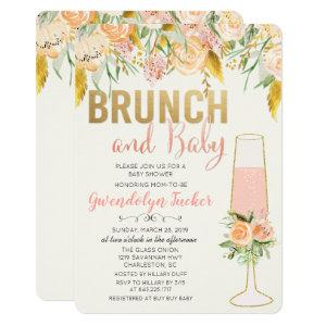 Brunch and Bubbly Baby Shower Invitation
