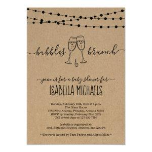 Bubble & Brunch Baby Shower Invitation