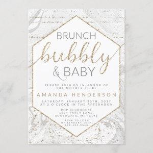 Bubbly & Baby Gray Marble Baby Shower