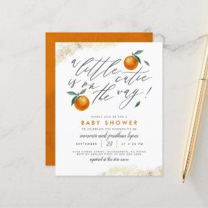 Budget A Little Cutie Orange Neutral Baby Shower