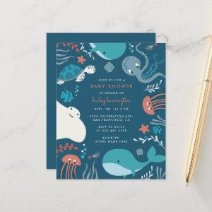 Budget Cute Nautical Under The Sea Baby Shower