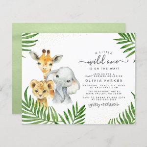 Budget Safari Animals Gender Neutral Baby Shower