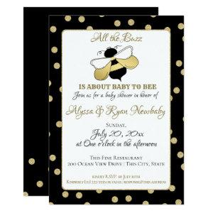 Bumble Bee Buzz Baby Shower Invitation