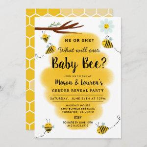Bumble Bee Gender Reveal Party Invitation