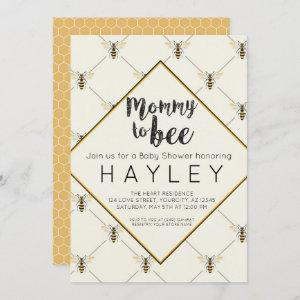 Bumble Bee Vintage Mommy to Bee shower Invite