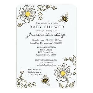 Bumble Bee Virtual Baby Shower Invitations
