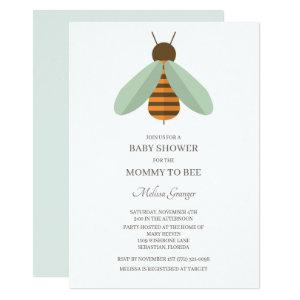 Bumblebee Mommy To Bee Baby Shower Invitation