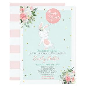 Bunny Baby Shower Invitation Some Bunny Special