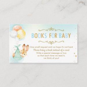 Bunny Balloons Baby Shower Bring a Book Instead Enclosure Card