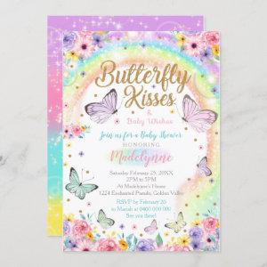Butterfly Baby Shower Invitation Rainbow Butterfly