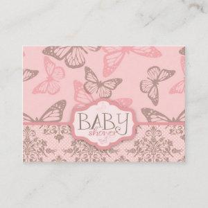 Butterfly Kisses Petal Reminder Notecard
