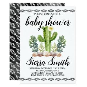 Cactus Baby Shower Invitation Invite