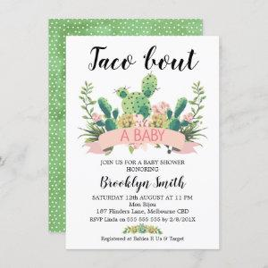 Cactus Taco 'bout A Baby Shower Invitation