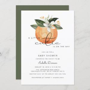 Calliope - A little Cutie Baby Shower Oranges Invitation
