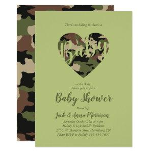 Camo Baby Shower Camouflage Country Hunter Invitation