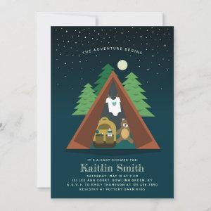 Camping Adventure Baby Shower Invitation