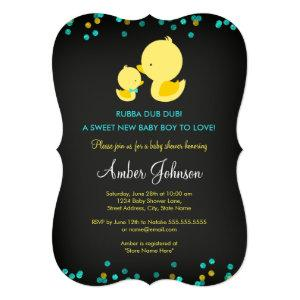 Chalkboard Rubber Duck Baby Shower Invite