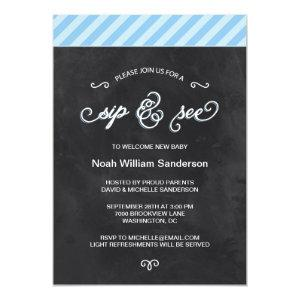Chalkboard Sip and See Invitation