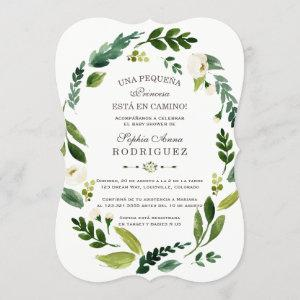 Charm White Flowers Invitación de Baby Shower Invitation