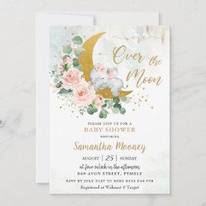 Chic Elephant We're Over the Moon Girl Baby Shower