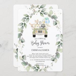 Chic Greenery Woodland Drive By Baby Shower Boy