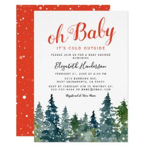Christmas Winter Baby Shower Invitation
