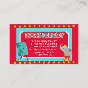 Circus Baby Shower, Book for Baby Shower Enclosure Card