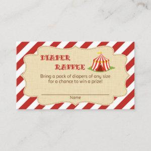Circus Baby Shower Diaper Raffle Tickets Enclosure Card