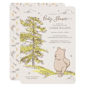 Classic Winnie the Pooh | Baby Shower Invitation