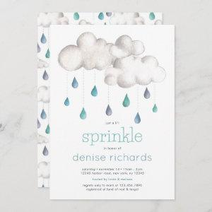 Cloudy with a chance of Sprinkles Baby Shower Invitation
