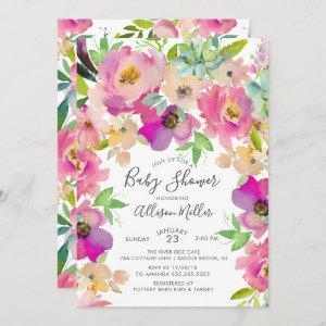 Colorful Blooms Floral Baby Shower
