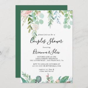 Colorful Tropical Floral Couples Shower Invitation