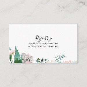 Colorful Tropical Floral Wedding Gift Registry Enclosure Card