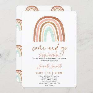 Come and Go Rainbow Baby Shower girl Invitation