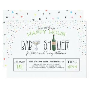 Couples Baby Shower | Happy Hour Invitation
