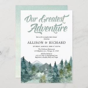 Couples baby shower, Our greatest adventure rustic