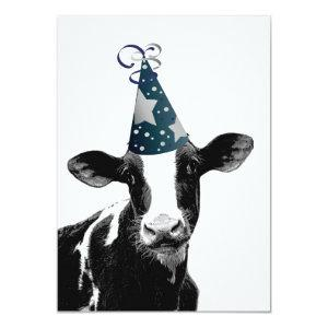 Cow Wants to Party! Invitation
