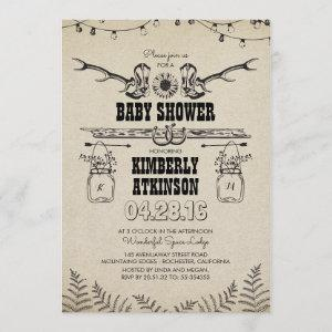 Cowboy Boots Rustic Country Baby Shower