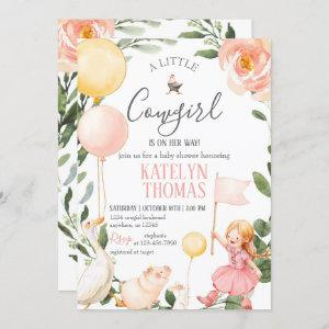 Cowgirl Baby Shower  with Greenery