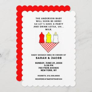 creative summer baby shower invitation