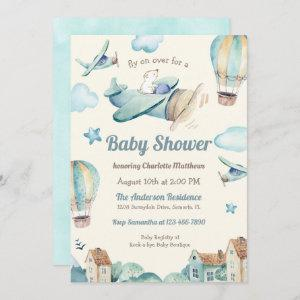 Cute Aviation Theme Baby Shower for Boy