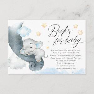 Cute baby elephant boy baby shower books for baby enclosure card