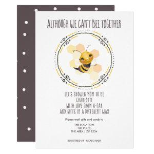 Cute Cant Be Together Baby Shower by Mail Invitation