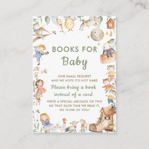 Cute Gender Neutral Nursery Rhyme Books for Baby Enclosure Card