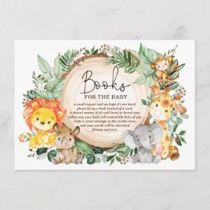 Cute Greenery Jungle Animals Books for Baby Enclosure Card