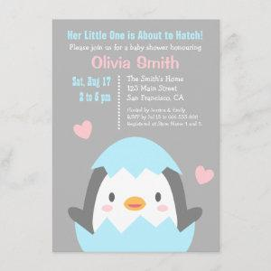 Cute Hatching Penguin Baby Shower