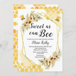 Cute Honey Sweet As Can Bee Baby Shower